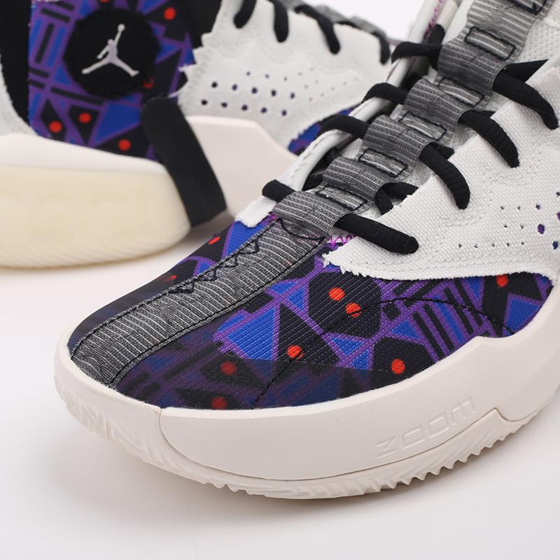 мужские разноцветные  кроссовки jordan react elevation q54 CZ4156-100 - цена, описание, фото 6