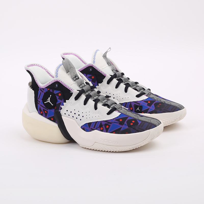 мужские разноцветные  кроссовки jordan react elevation q54 CZ4156-100 - цена, описание, фото 2