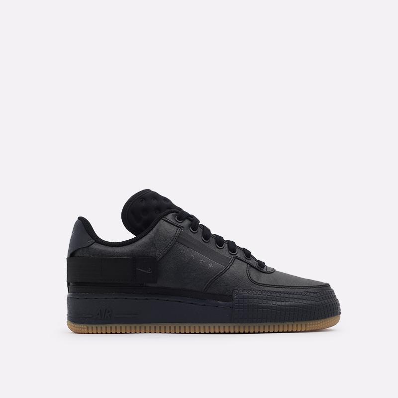 мужские чёрные  кроссовки nike air force 1 type 1 CJ1281-001 - цена, описание, фото 1