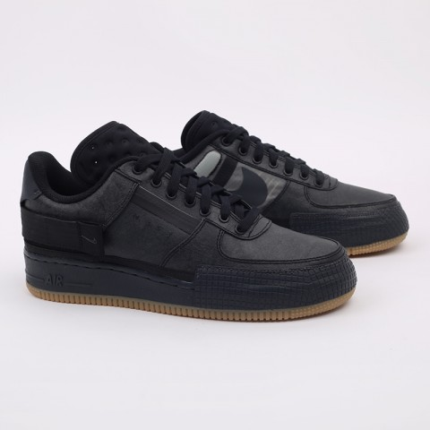 мужские чёрные  кроссовки nike air force 1 type 1 CJ1281-001 - цена, описание, фото 3