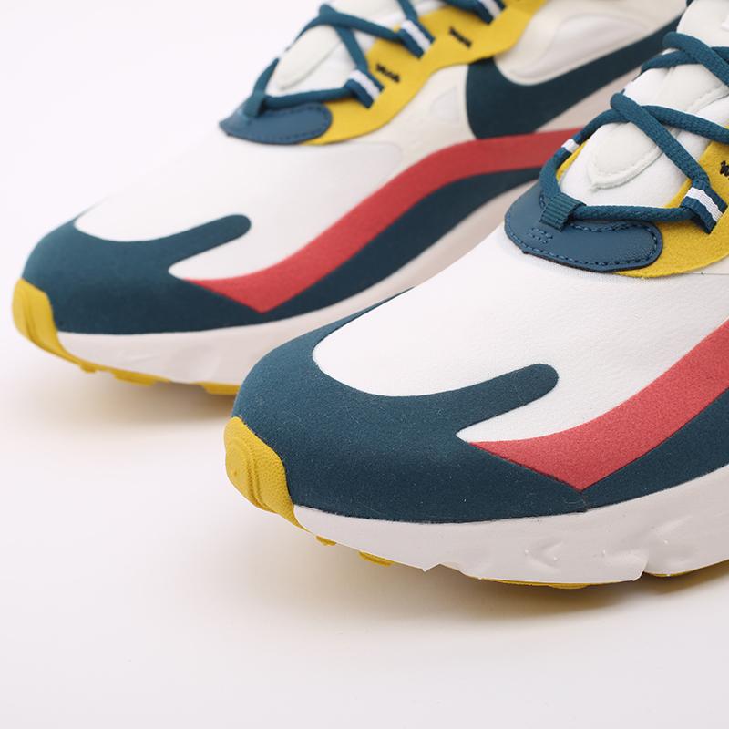 мужские бежевые  кроссовки nike air max 270 react CT1264-103 - цена, описание, фото 6