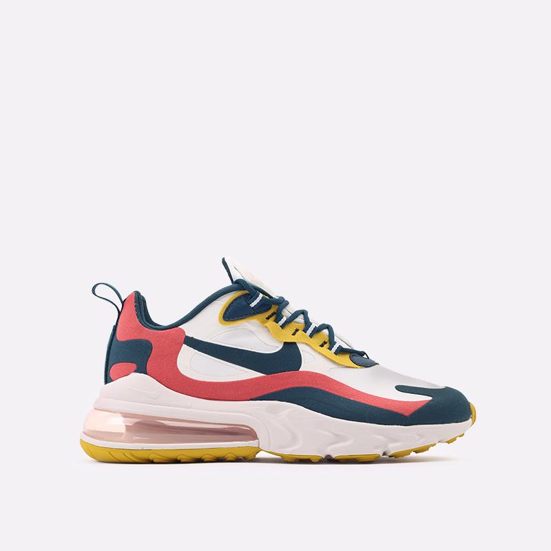 мужские бежевые  кроссовки nike air max 270 react CT1264-103 - цена, описание, фото 1