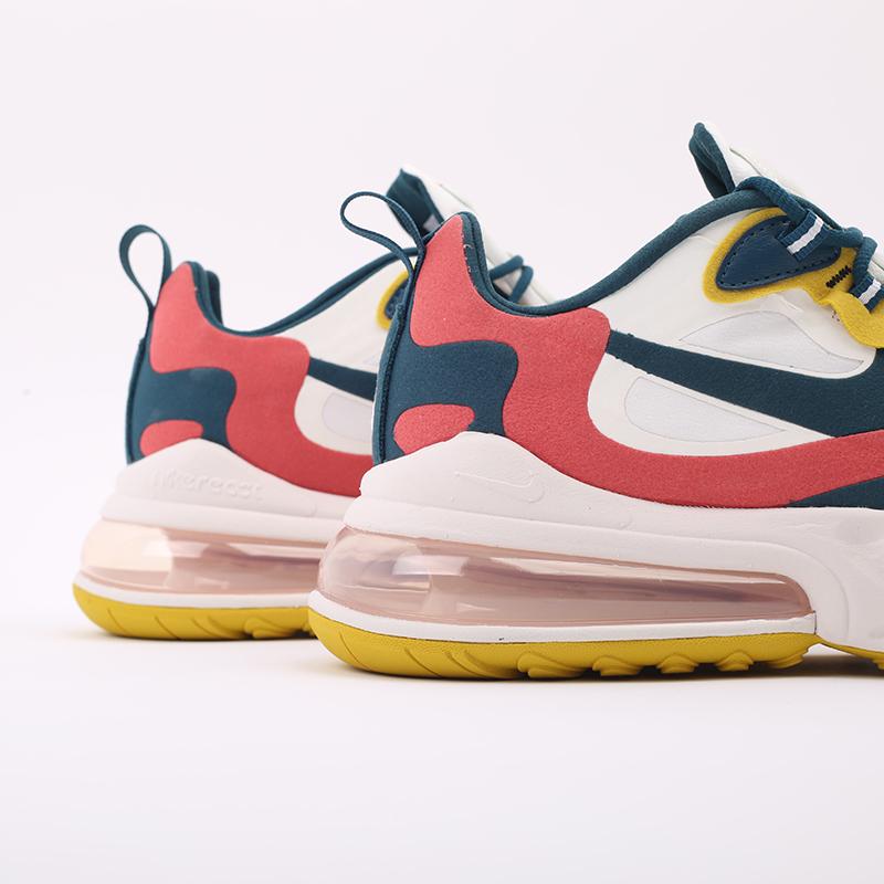 мужские бежевые  кроссовки nike air max 270 react CT1264-103 - цена, описание, фото 2