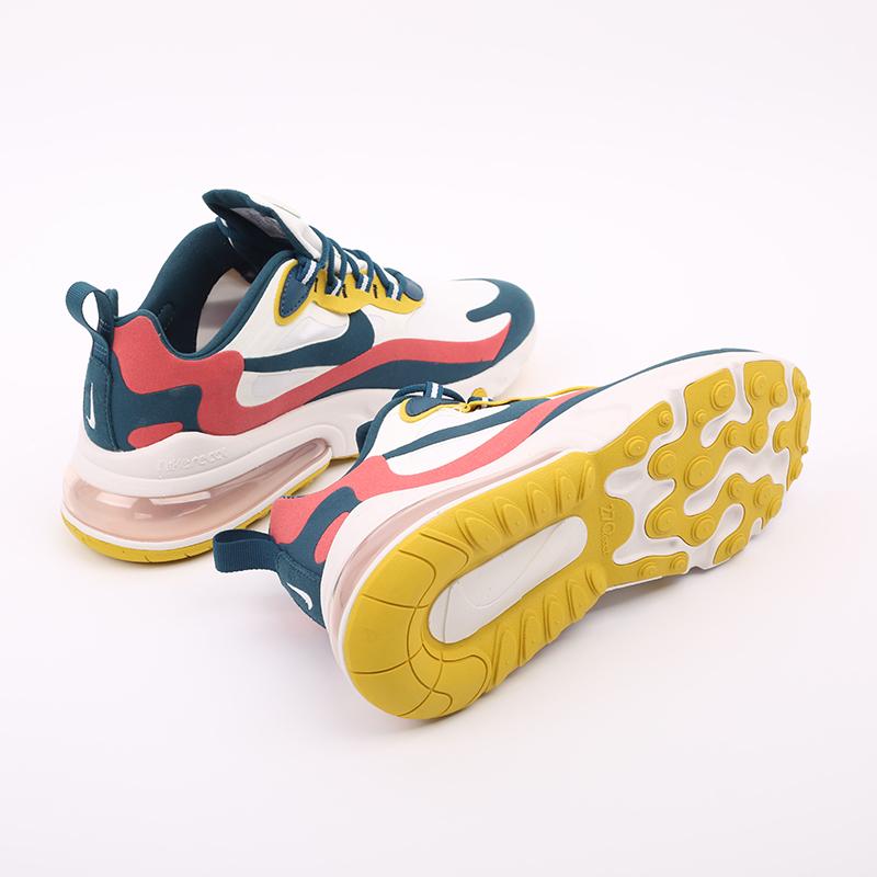мужские бежевые  кроссовки nike air max 270 react CT1264-103 - цена, описание, фото 3
