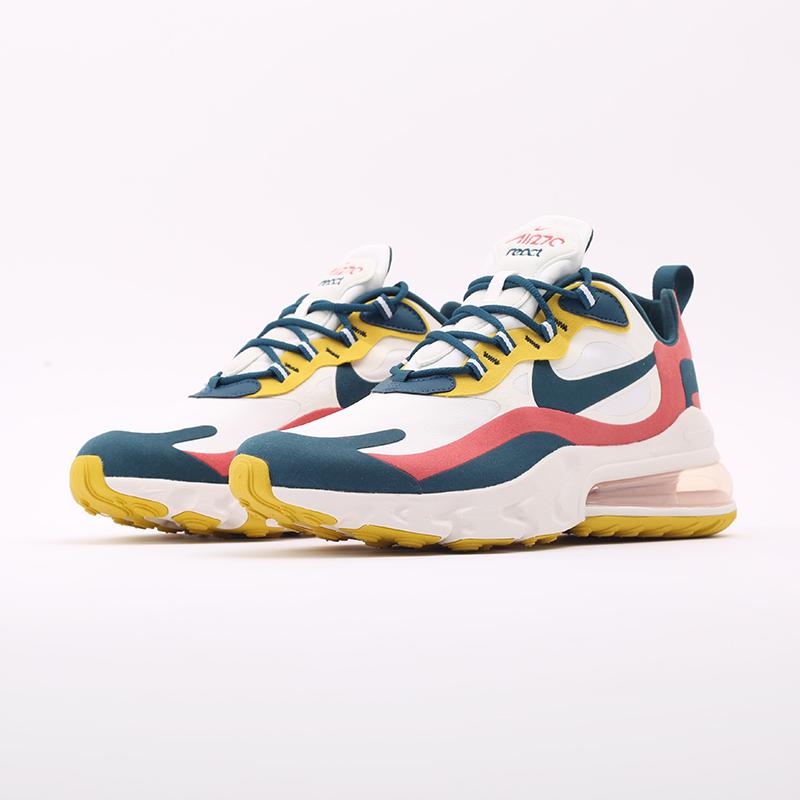мужские бежевые  кроссовки nike air max 270 react CT1264-103 - цена, описание, фото 5