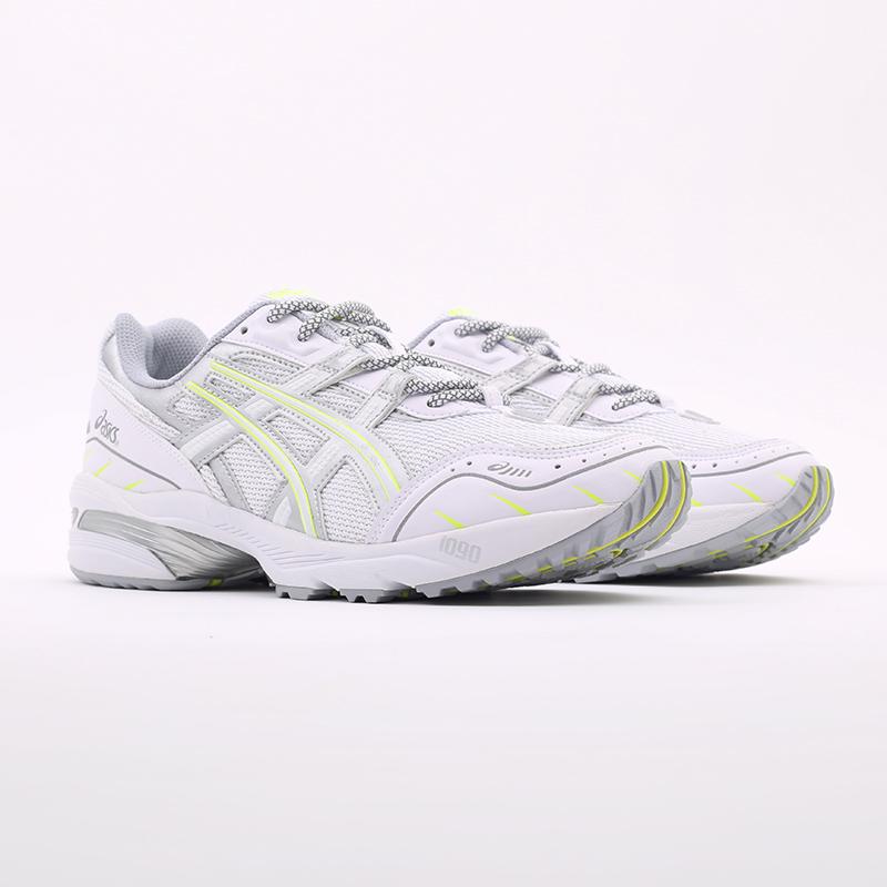 мужские белые  кроссовки asics gel-1090 1201A041-100 - цена, описание, фото 2