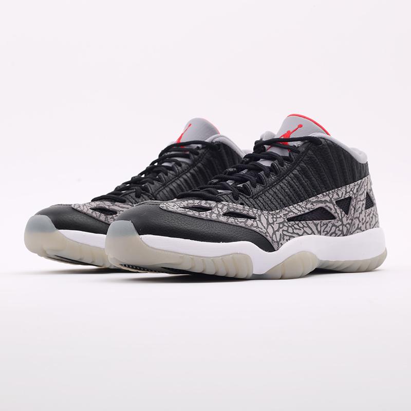 мужские чёрные  кроссовки jordan 11 retro low ie 919712-006 - цена, описание, фото 5