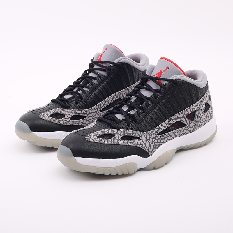 мужские чёрные  кроссовки jordan 11 retro low ie 919712-006 - цена, описание, фото 6