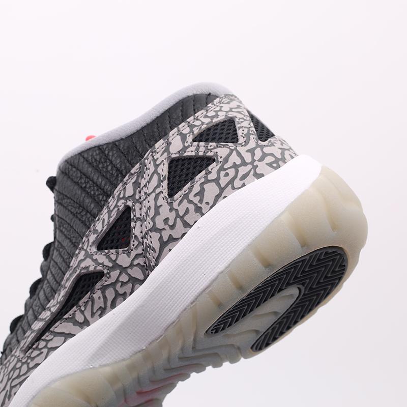мужские чёрные  кроссовки jordan 11 retro low ie 919712-006 - цена, описание, фото 9