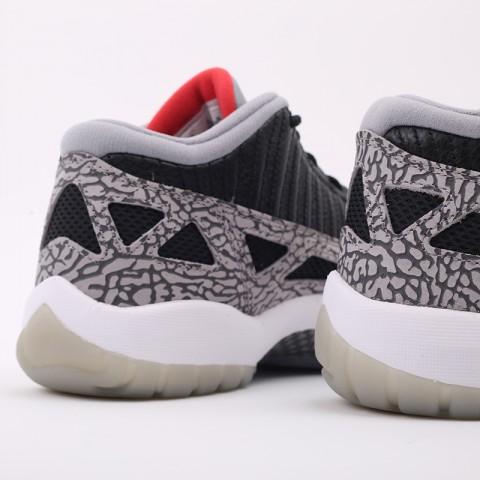 мужские чёрные  кроссовки jordan 11 retro low ie 919712-006 - цена, описание, фото 3