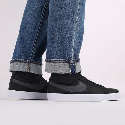 мужские чёрные  кроссовки nike zoom blazer mid iso CV4284-001 - цена, описание, фото 8