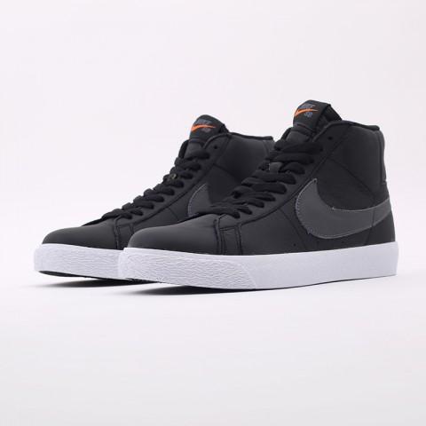 мужские чёрные  кроссовки nike zoom blazer mid iso CV4284-001 - цена, описание, фото 5