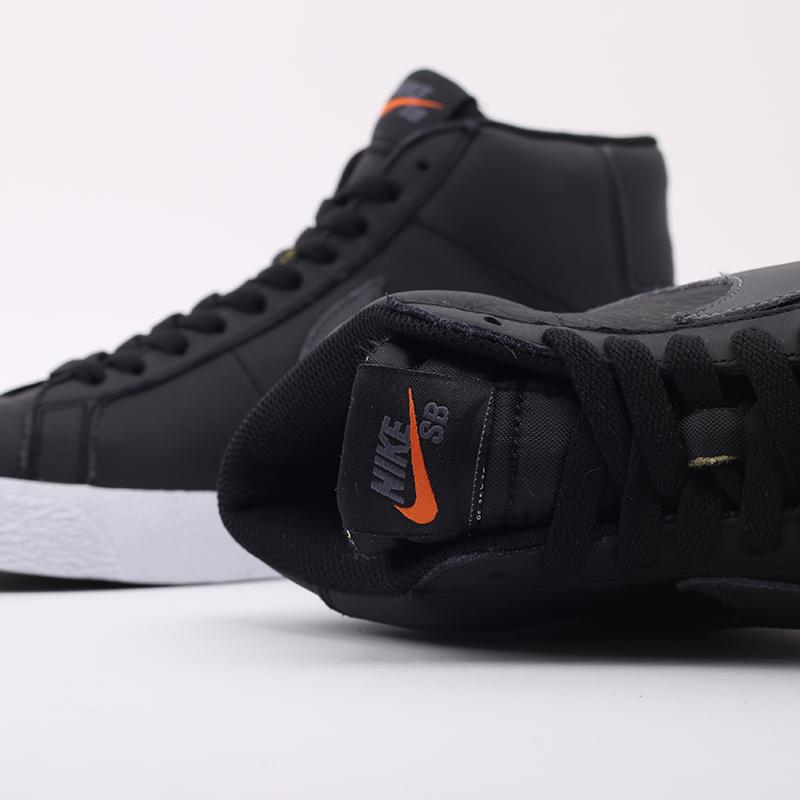 мужские чёрные  кроссовки nike zoom blazer mid iso CV4284-001 - цена, описание, фото 6