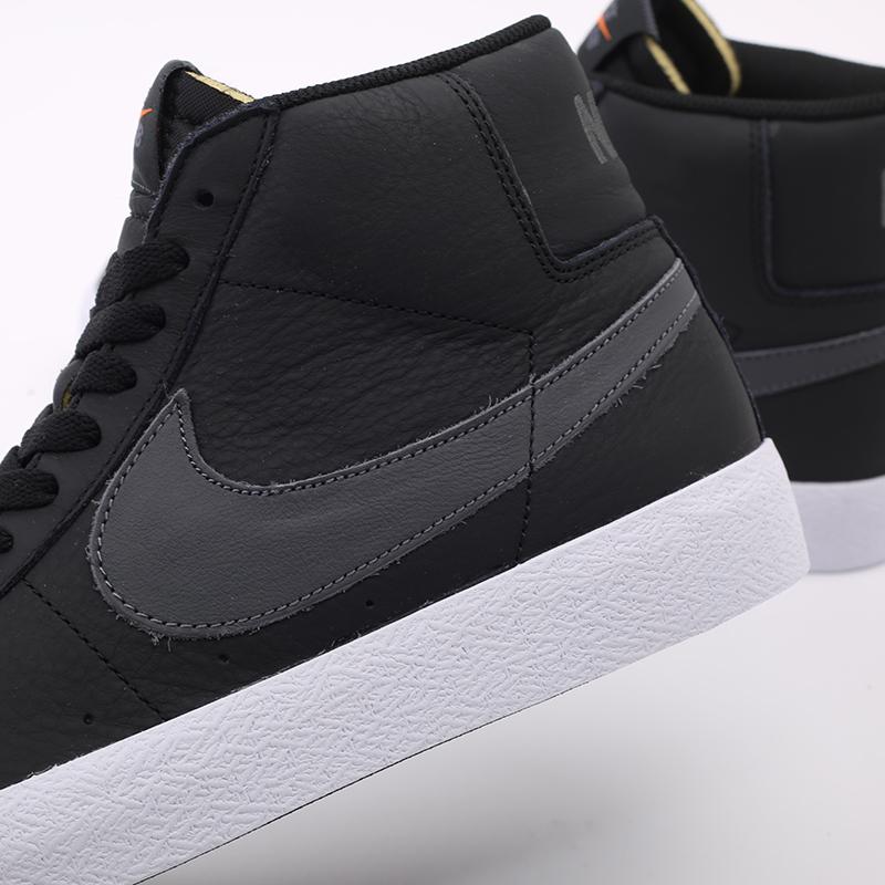 мужские чёрные  кроссовки nike zoom blazer mid iso CV4284-001 - цена, описание, фото 7