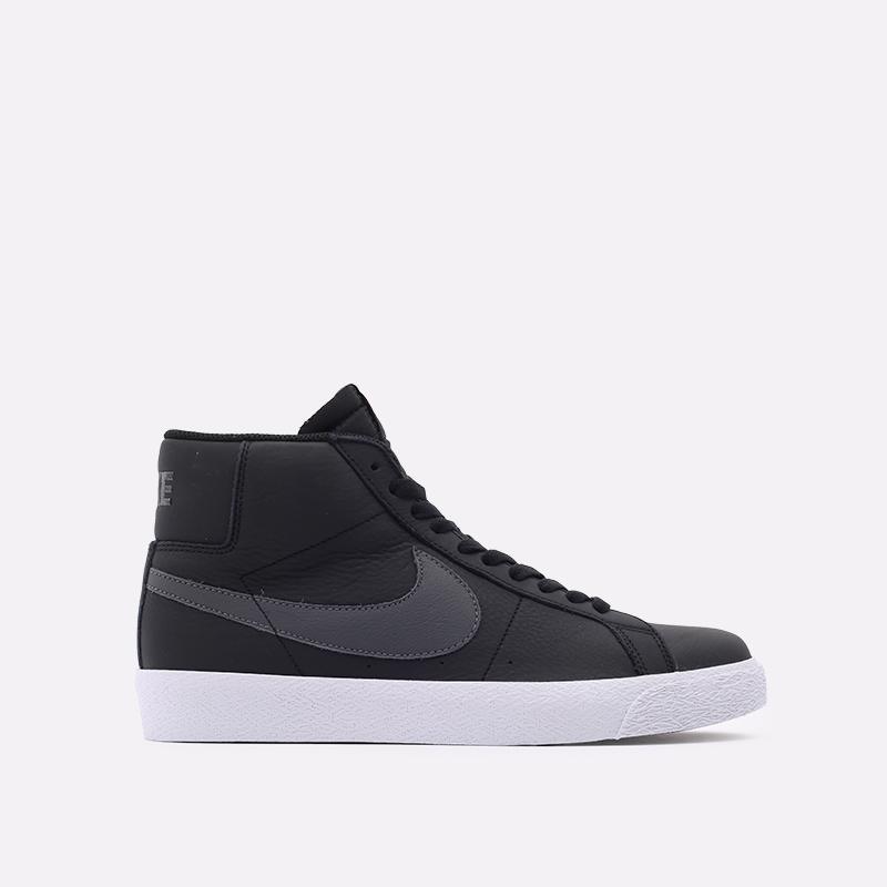мужские чёрные  кроссовки nike zoom blazer mid iso CV4284-001 - цена, описание, фото 1