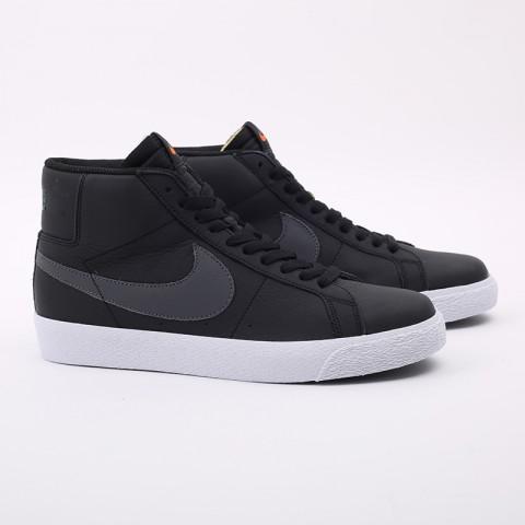 мужские чёрные  кроссовки nike zoom blazer mid iso CV4284-001 - цена, описание, фото 2