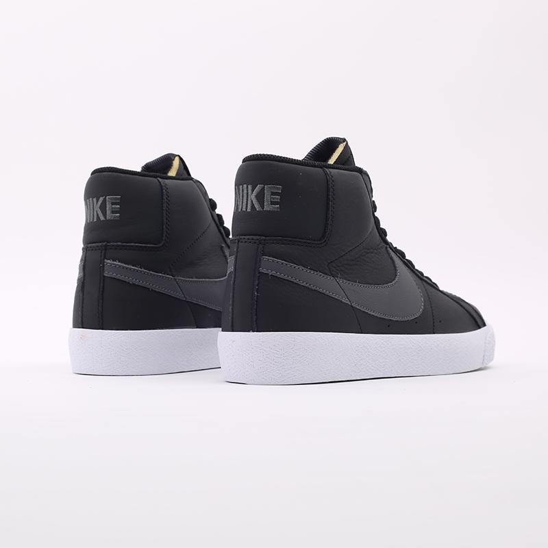 мужские чёрные  кроссовки nike zoom blazer mid iso CV4284-001 - цена, описание, фото 3
