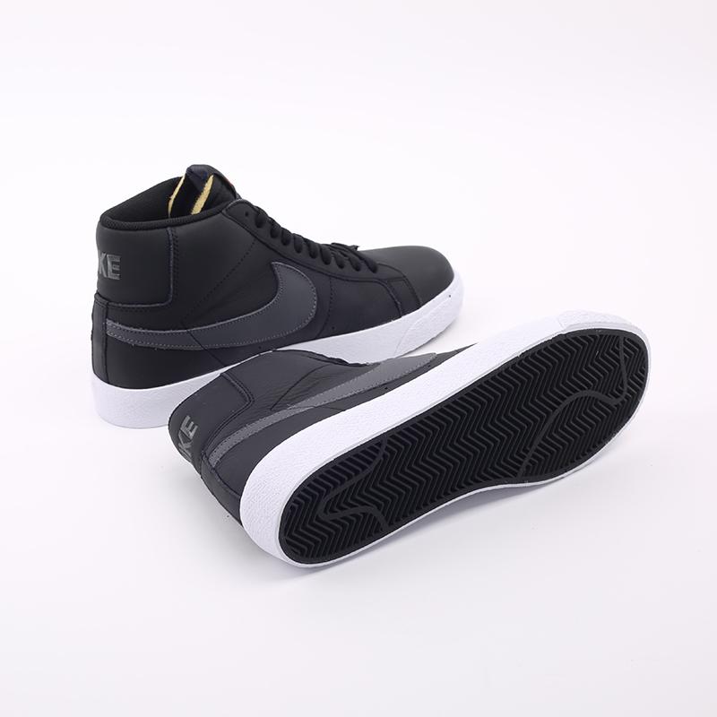 мужские чёрные  кроссовки nike zoom blazer mid iso CV4284-001 - цена, описание, фото 4