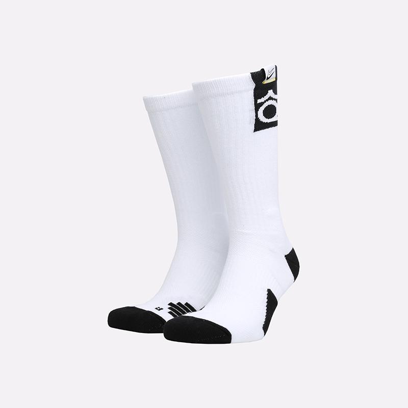 мужские белые  носки nike kd elite crew SK0083-100 - цена, описание, фото 1
