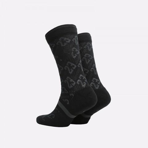 мужские чёрные  носки jordan legacy crew CU0037-010 - цена, описание, фото 2