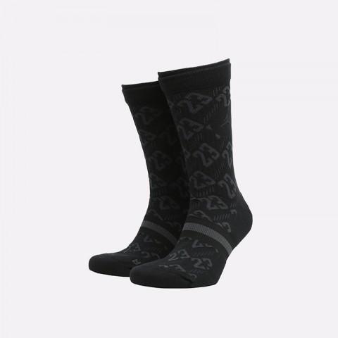 мужские чёрные  носки jordan legacy crew CU0037-010 - цена, описание, фото 1