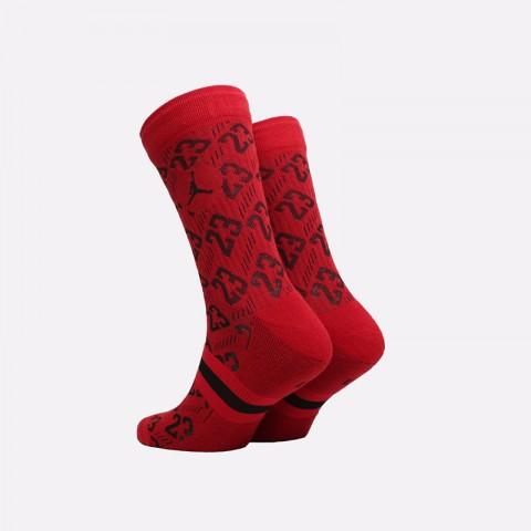 мужские красные  носки jordan legacy crew CU0037-687 - цена, описание, фото 2