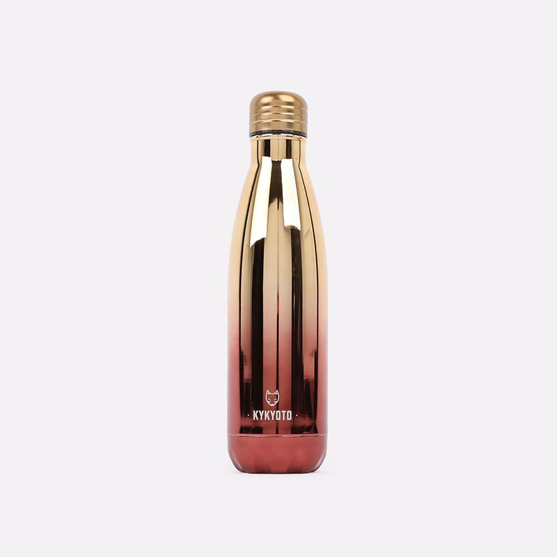 жёлтую, коричневую  термобутылка kykyoto duo color therma CoralDuo-yell-bln - цена, описание, фото 1