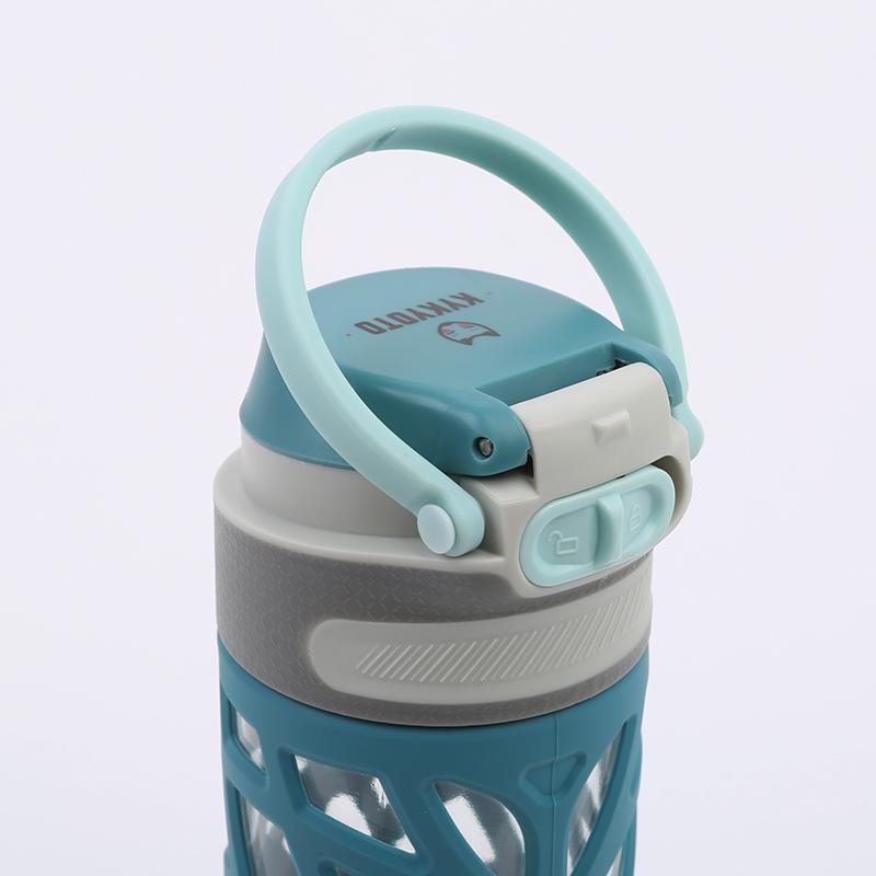 синюю  бутылка kykyoto soft grip fliptop Soft-grip 600ml - цена, описание, фото 2