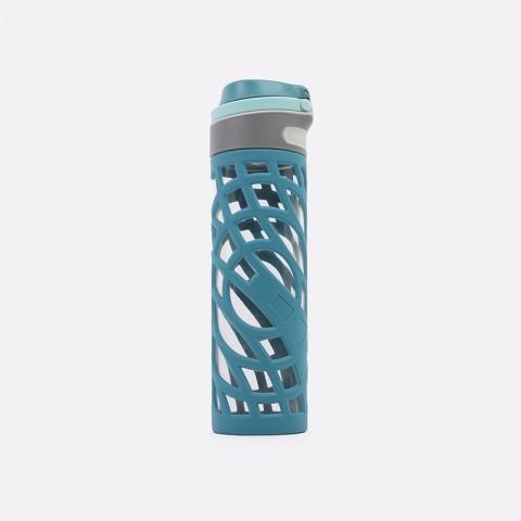 синюю  бутылка kykyoto soft grip fliptop Soft-grip 600ml - цена, описание, фото 1