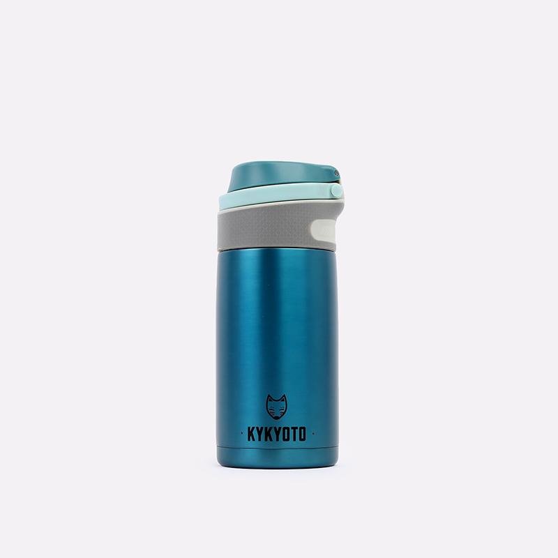 синий  термос kykyoto thermal fliptop Thermal 350ml - цена, описание, фото 1