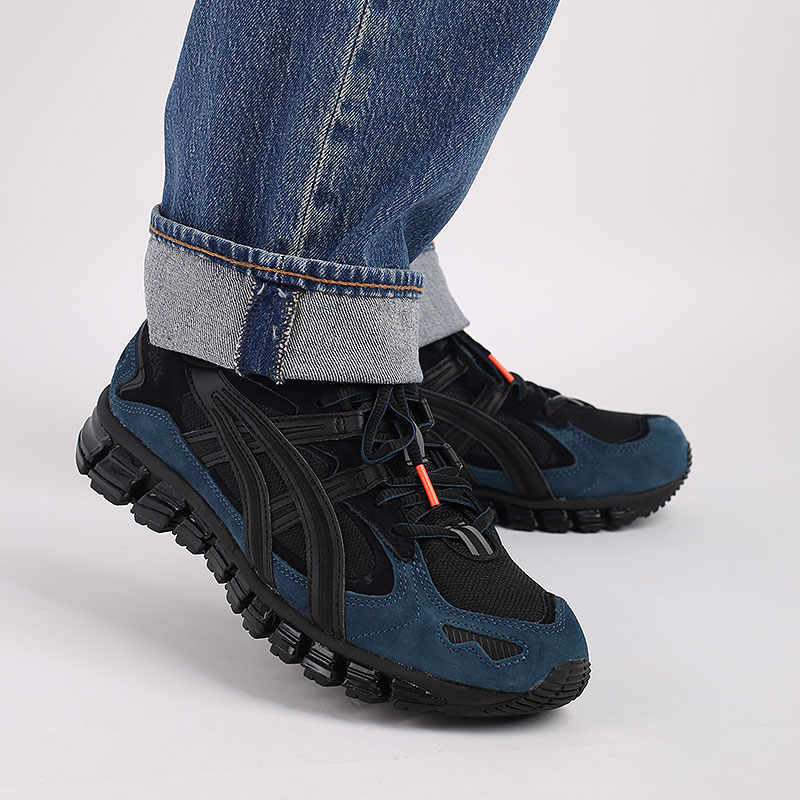 мужские чёрные  кроссовки asics gel-kayano 5 360 1021A160-002 - цена, описание, фото 8