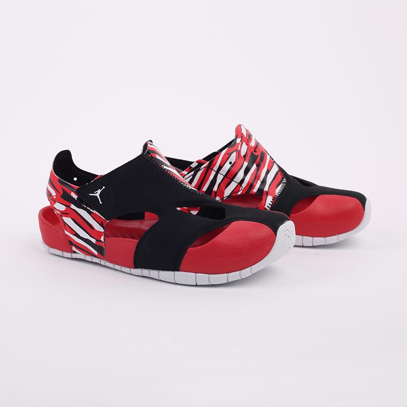 детские чёрные, красные  сандали jordan flare (ps) CI7849-016 - цена, описание, фото 2