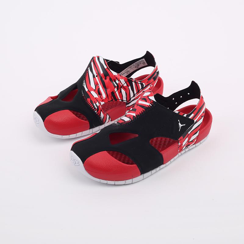 детские чёрные, красные  сандали jordan flare (ps) CI7849-016 - цена, описание, фото 5