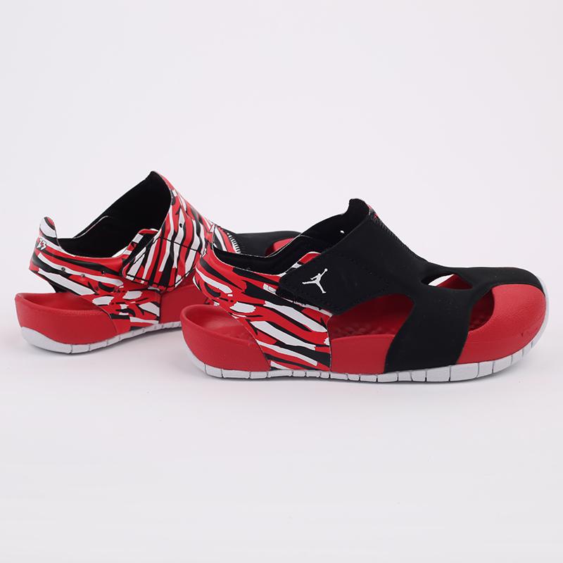 детские чёрные, красные  сандали jordan flare (ps) CI7849-016 - цена, описание, фото 4
