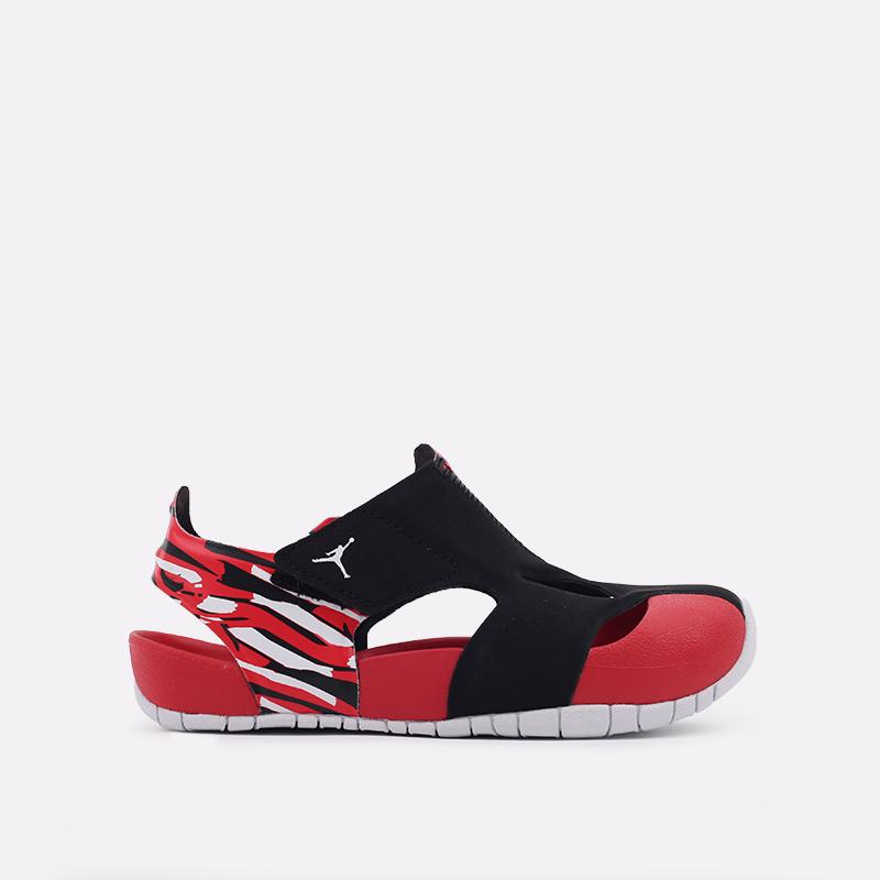 детские чёрные, красные  сандали jordan flare (ps) CI7849-016 - цена, описание, фото 1