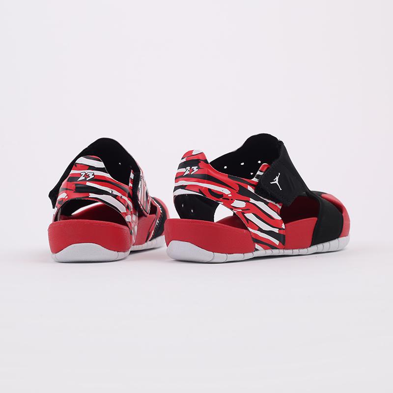 детские чёрные, красные  сандали jordan flare (ps) CI7849-016 - цена, описание, фото 3