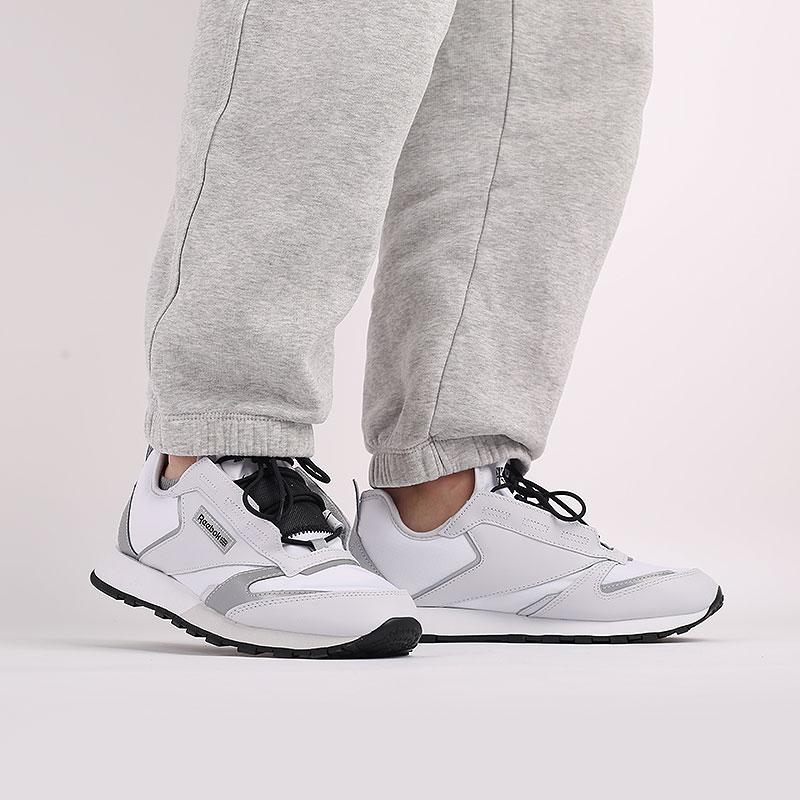 белые  кроссовки reebok cl lthr premier FV9287 - цена, описание, фото 8
