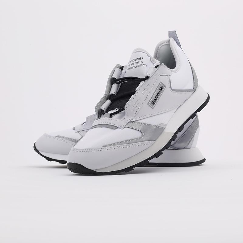 белые  кроссовки reebok cl lthr premier FV9287 - цена, описание, фото 7
