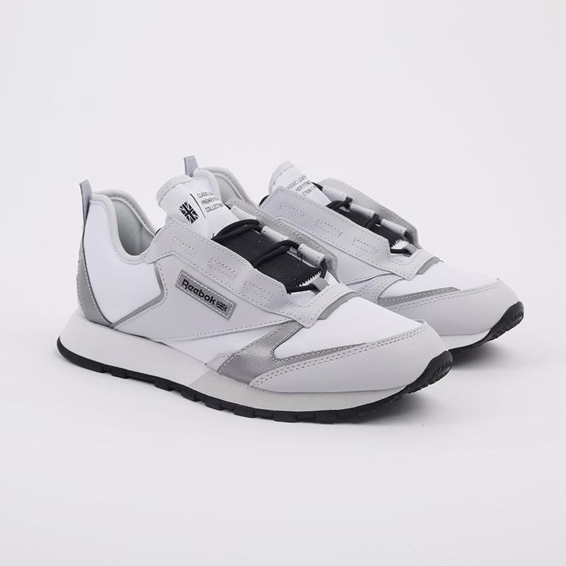 белые  кроссовки reebok cl lthr premier FV9287 - цена, описание, фото 3