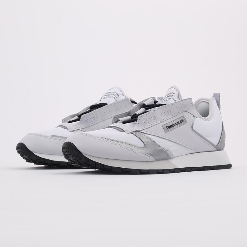 белые  кроссовки reebok cl lthr premier FV9287 - цена, описание, фото 6