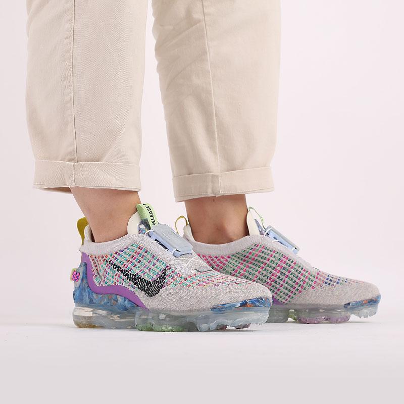 женские разноцветные  кроссовки nike wmns air vapormax 2020 fk CJ6741-001 - цена, описание, фото 7