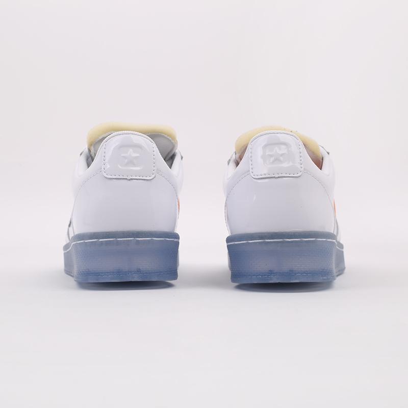 белые  кроссовки converse pro leather ox x rokit 169217 - цена, описание, фото 3