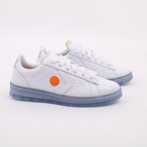 белые  кроссовки converse pro leather ox x rokit 169217 - цена, описание, фото 2