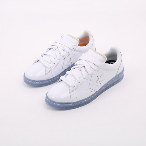 белые  кроссовки converse pro leather ox x rokit 169217 - цена, описание, фото 5