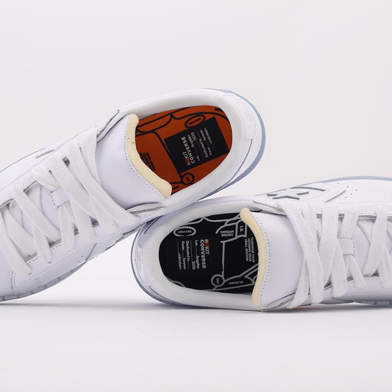 белые  кроссовки converse pro leather ox x rokit 169217 - цена, описание, фото 7