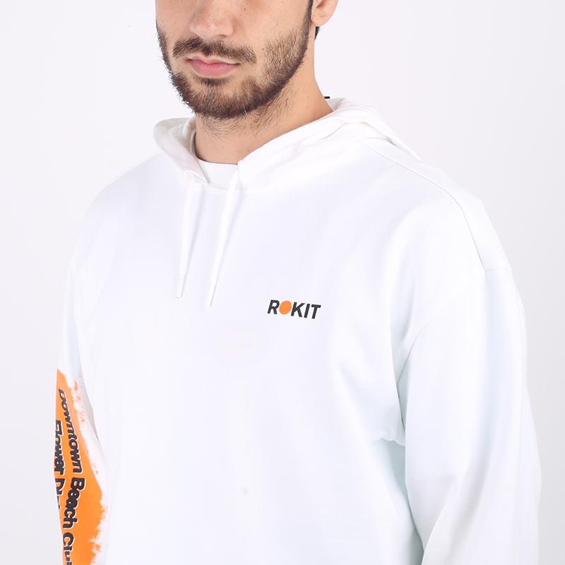 мужскую белую  толстовка converse x rokit hoodie 10020773102 - цена, описание, фото 3