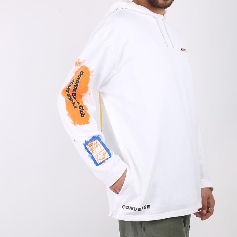 мужскую белую  толстовка converse x rokit hoodie 10020773102 - цена, описание, фото 4
