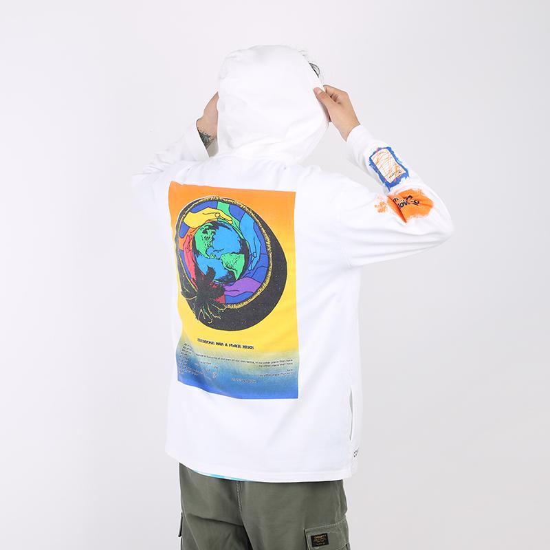 мужскую белую  толстовка converse x rokit hoodie 10020773102 - цена, описание, фото 2