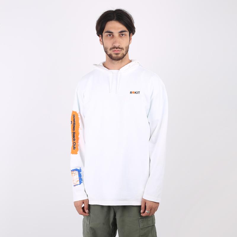 мужскую белую  толстовка converse x rokit hoodie 10020773102 - цена, описание, фото 1