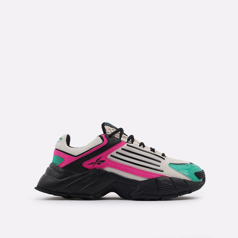 бежевые, чёрные, розовые  кроссовки reebok dmx series 3000 FV8652 - цена, описание, фото 1